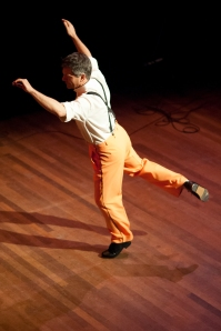 Josh Hilberman at International Tap Dance Day show, Amsterdam, 2012.  Photo by Frans Kraan.