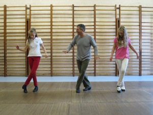 Toeing and heeling with two teens:  room for growth!