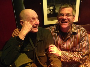 How cool to hang out at in London and have a drink--an actual DRINK!--with 84 year old guru Dean Diggins!  photo V. Annand