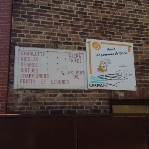 Belgians love their potatoes, in many varieties....