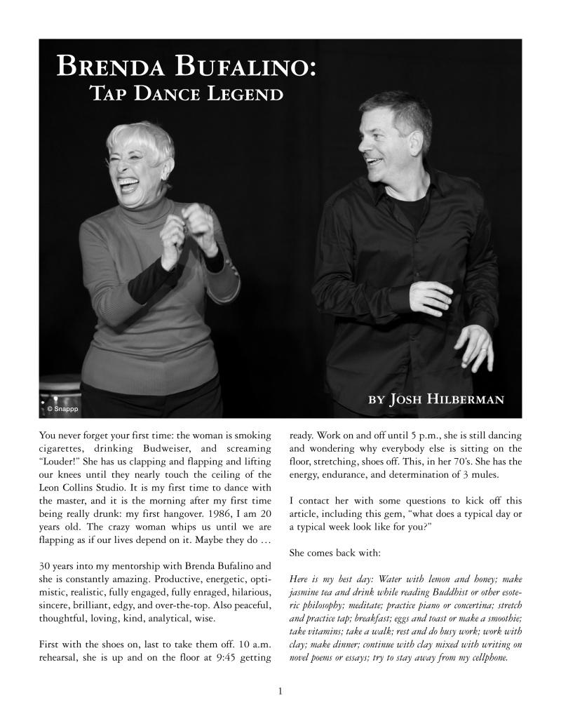 Brenda Bufalino - Tap Dance Legend 1